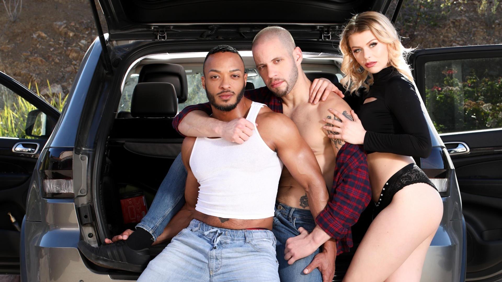 Drive Bi - Wolf Hudson & Dillon Diaz & Sahara Skye 1
