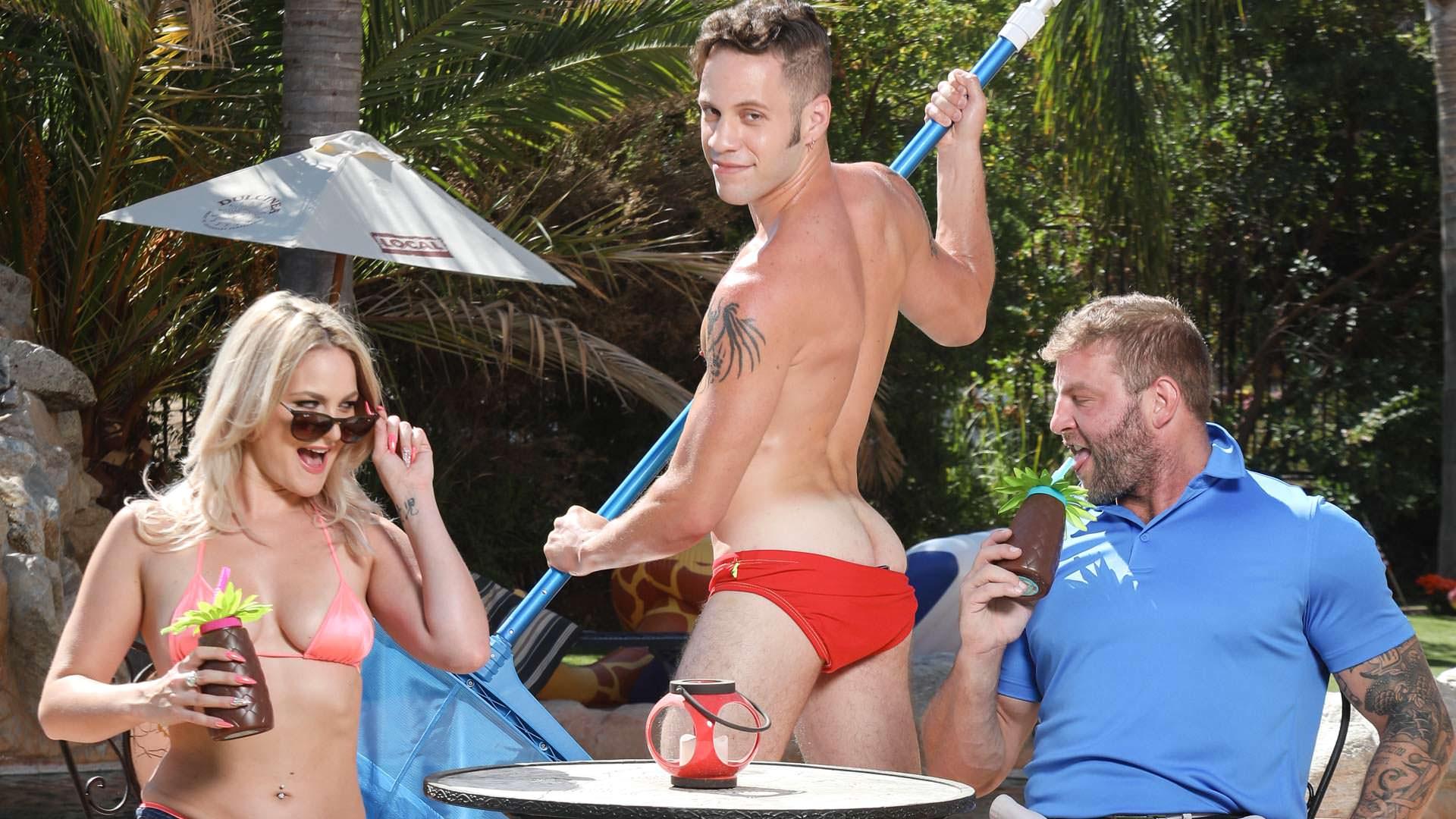 Pool Boys - Colby Jansen & Wolf Hudson & Lisey Sweet 1