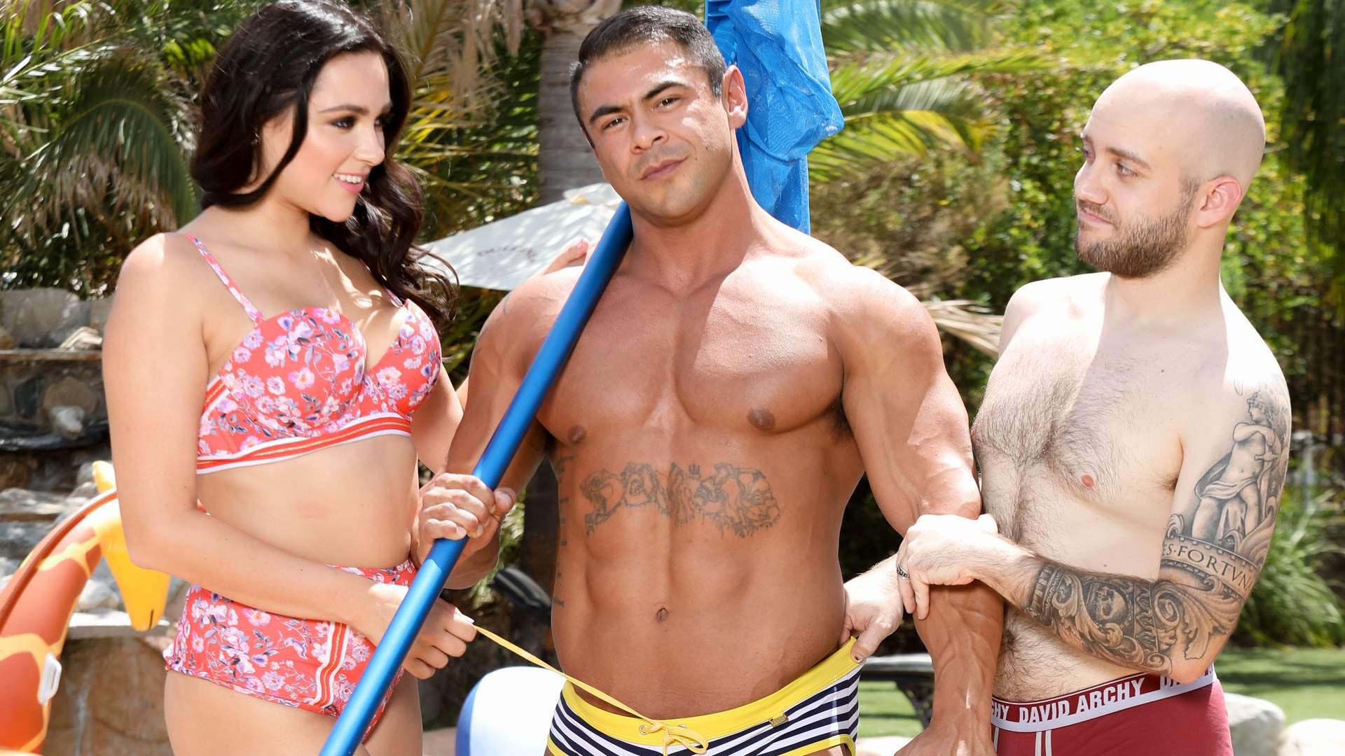 Pool Boys - Draven Navarro & Zoey Foxx & Salvatore Bosho 1